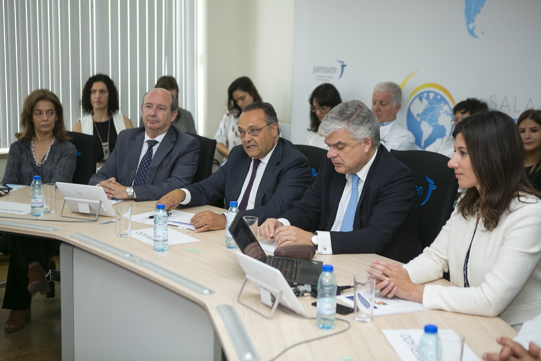 O Secretário de Estado, Dr. Manuel Delgado esteve presente na Sala Dr. Paul Janssen de Lisboa
