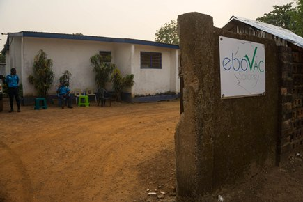 The clinic, in Kambia, Sierra Leone, where the EBOVAC-Salone trial took place.