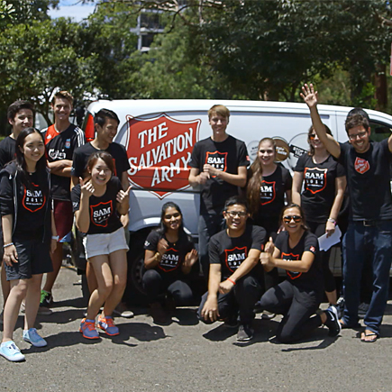Community engagement with Salvation Army