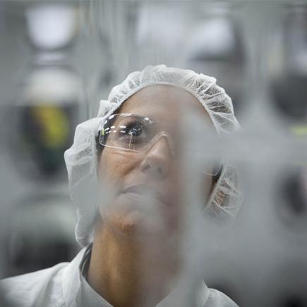 Research and development staff gaze