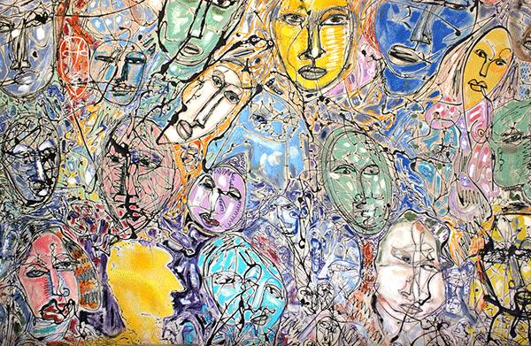 Frank Boccio - Acrylics on canvas