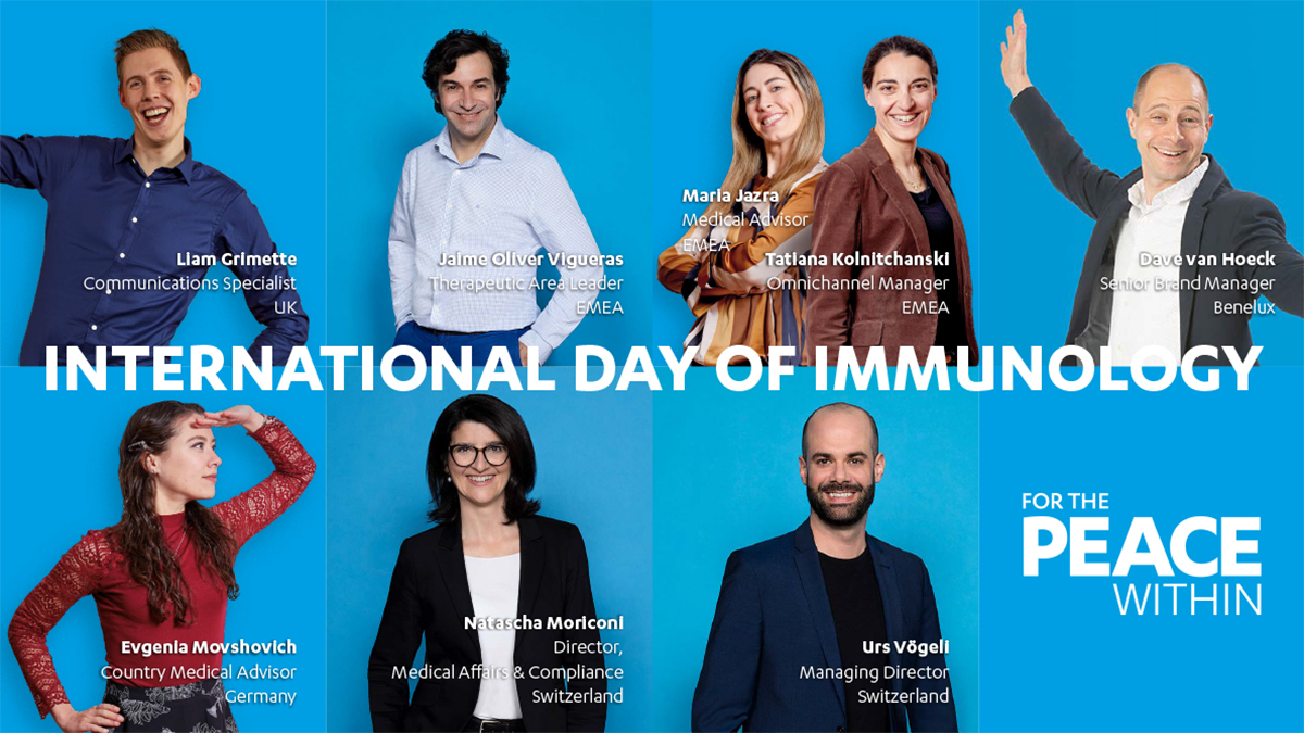 – Collage with Janssen employees across EMEA who are committed to supporting International Day of Immunology.