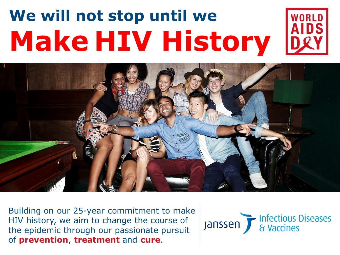World Aids Day commitment Janssen