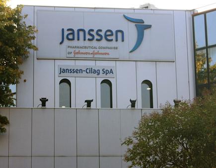 La facciata della sede Janssen di Cologno Monzese (MI)
