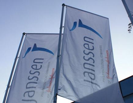 Bandiere con il logo Janssen