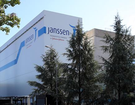 Edifici dello stabilimento Janssen a Latina