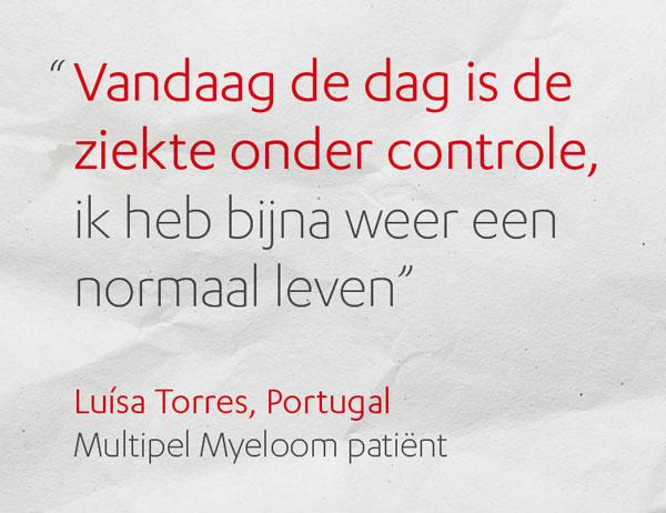 Luisa Torres, Multipel Myeloom patiënt