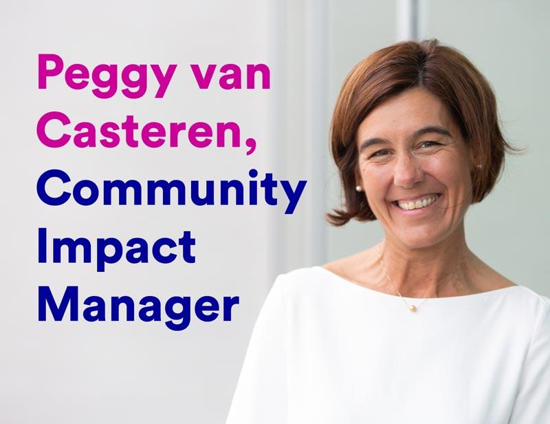 Peggy van Casteren, passie voor gezondheid, Community impact manager