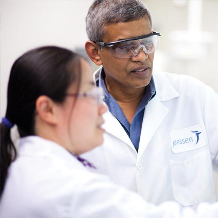 Janssen research scientists working together