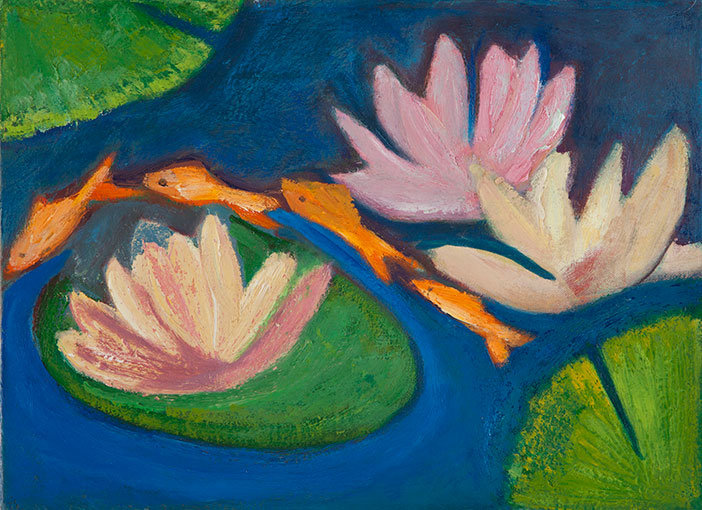 Betsy Gross, Lilies and Carp