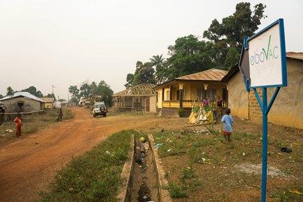 Дорога, ведущая к клинике, где проводилось исследование EBOVAC-Salone. Камбия, Сьерра-Леоне