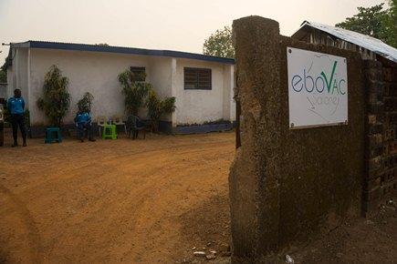 EBOVAC-Salone 임상시험이 시행된 시에라리온 Kambia 내 기관